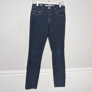 Mossimo Dark Denim Skinny Jeans Fit 6 Sz 7 Juniors